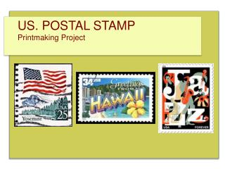 US. POSTAL STAMP Printmaking Project