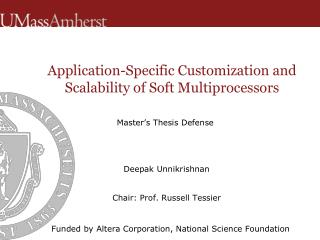 Application-Specific Customization and Scalability of Soft Multiprocessors