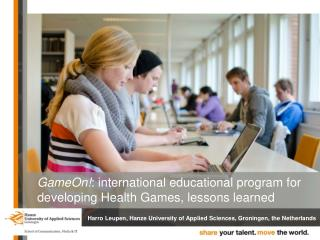 GameOn! : international educational program for developing Health Games, lessons learned