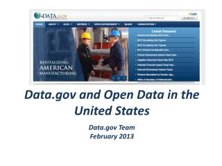 Data.gov  and Open Data in the United States