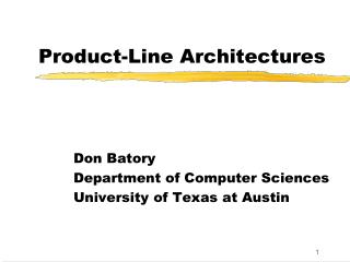 Product-Line Architectures