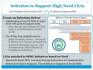 Selection to Support High Need LEAs