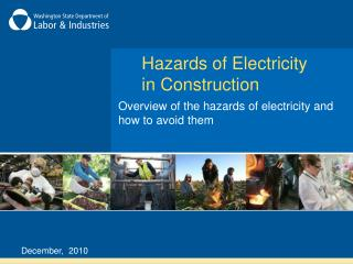 Hazards of Electricity in Construction