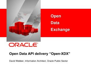"Open Data API delivery ""Open-XDX"""