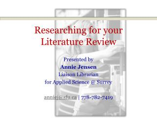 Researching for your Literature Review
