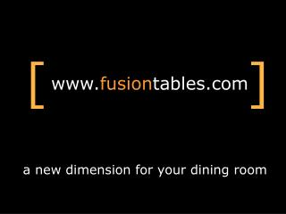 a new dimension for your dining room