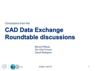 CAD Data Exchange Roundtable discussions