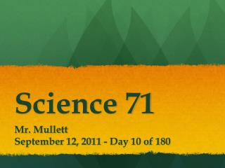 Science 71
