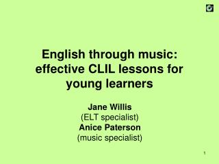 English through music: effective CLIL lessons for young learners