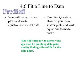 4.6 Fit a Line to Data