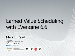Earned Value  Scheduling with  EVengine  6.6