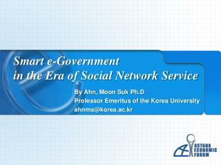 Smart e-Government in the Era of Social Network Service