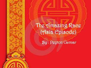 The Amazing Race ( Asia Episode)
