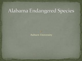Alabama Endangered Species
