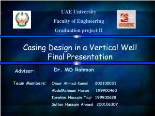 UAE University  Faculty of Engineering Graduation project II