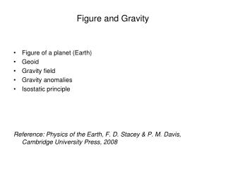 Figure and Gravity