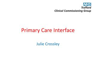 Primary Care Interface