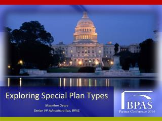 Exploring Special Plan Types