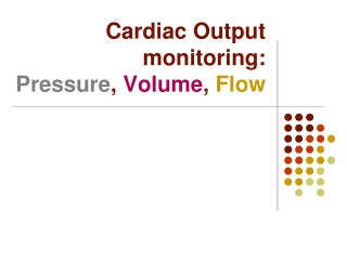 Cardiac output monitoring