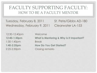 Faculty supporting faculty: How to be a faculty mentor