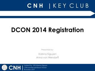 DCON 2014 Registration