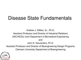 Disease State  Fundamentals