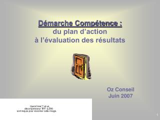 D marche Comp tence : du plan d action    l  valuation des r sultats
