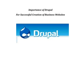 Importance of Drupal as open source web development
