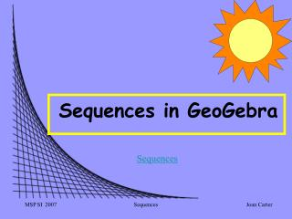 Sequences in GeoGebra