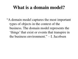 What is a domain model?