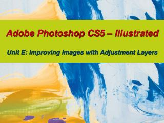 Adobe Photoshop CS5 – Illustrated Unit E: Improving Images with Adjustment Layers