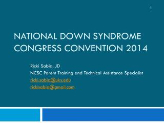 National Down  Syndrome Congress Convention  2014