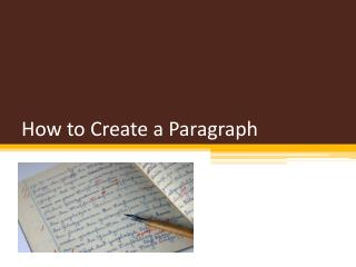 How to Create a Paragraph
