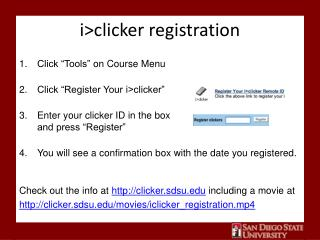 i >clicker registration