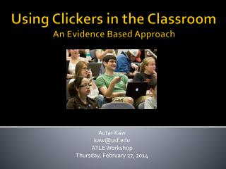 Using Clickers in the Classroom   An Evidence Based Approach