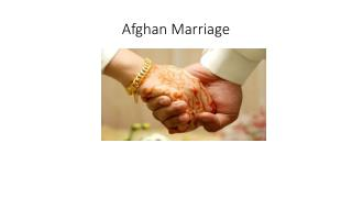 Afghan Marriage