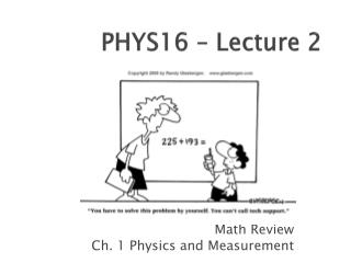 PHYS16 – Lecture 2