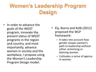 Women's Leadership Program Design