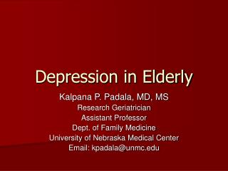Depression in Elderly