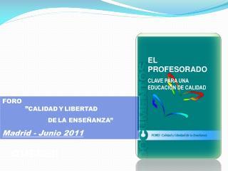 EL PROFESORADO CLAVE PARA UNA EDUCACIÓN DE CALIDAD