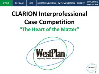"CLARION Interprofessional  Case Competition  ""The Heart of the Matter"""