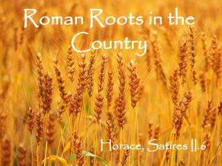 Roman Roots in the Country