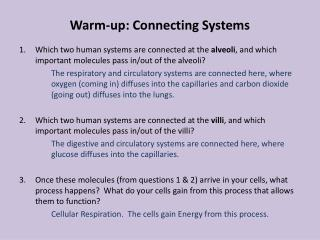 Warm-up: Connecting Systems