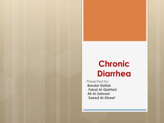 Chronic Diarrhea