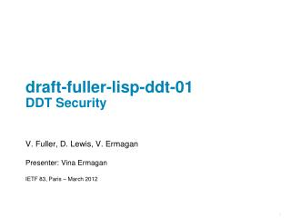 draft -fuller-lisp-ddt-01 DDT Security