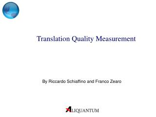 Translation Quality Measurement