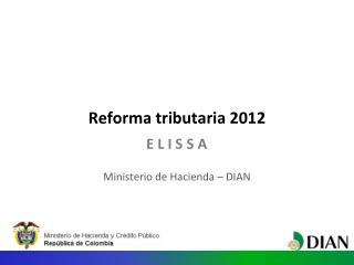 Reforma tributaria 2012