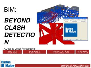 BIM: BEYOND CLASH DETECTION A Jobsite Level Perspective