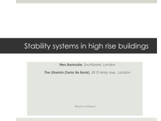 Stability systems in high rise buildings