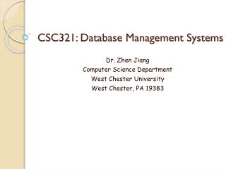 CSC321: Database Management Systems
